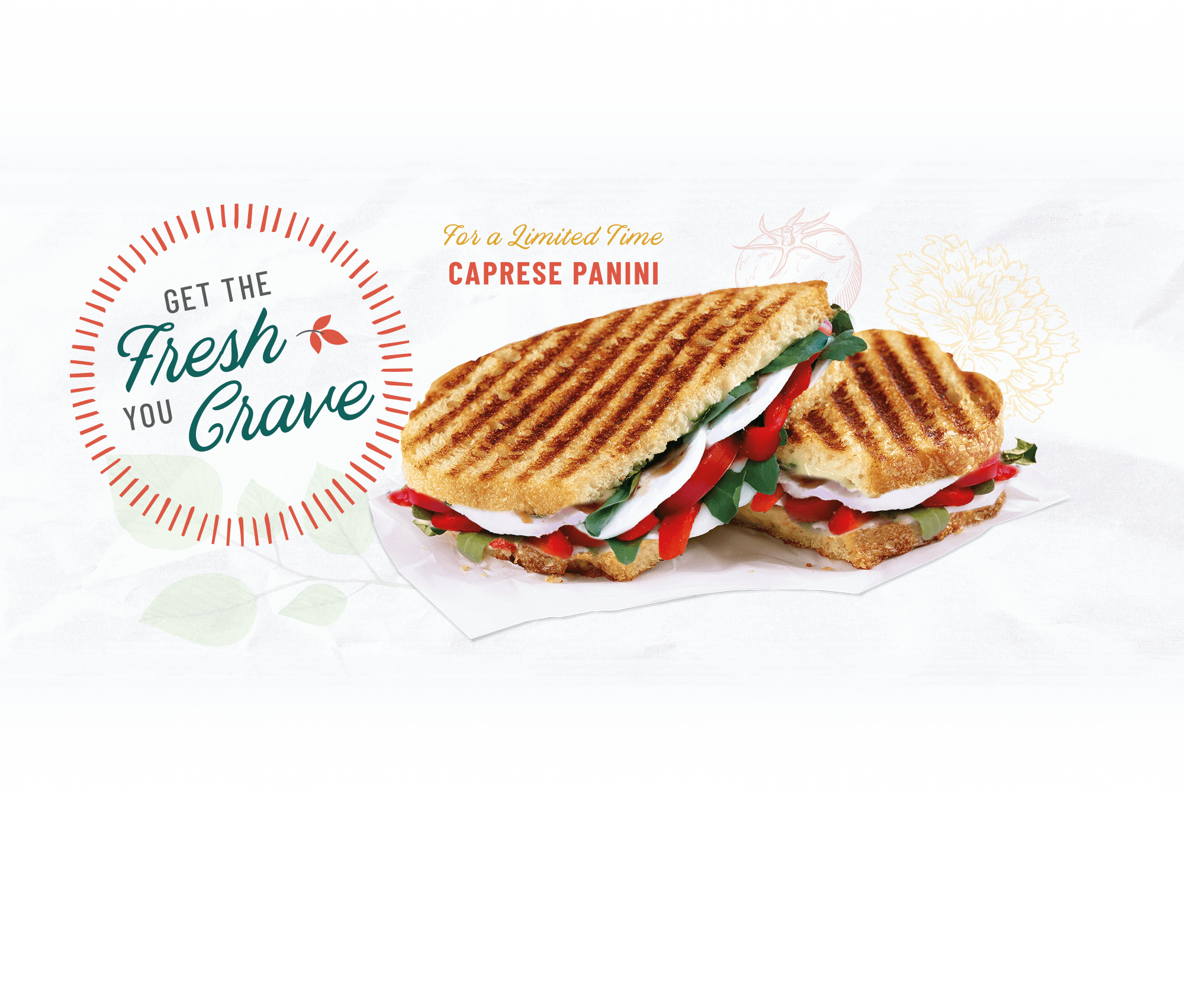 For a limited time - Caprese Panini
