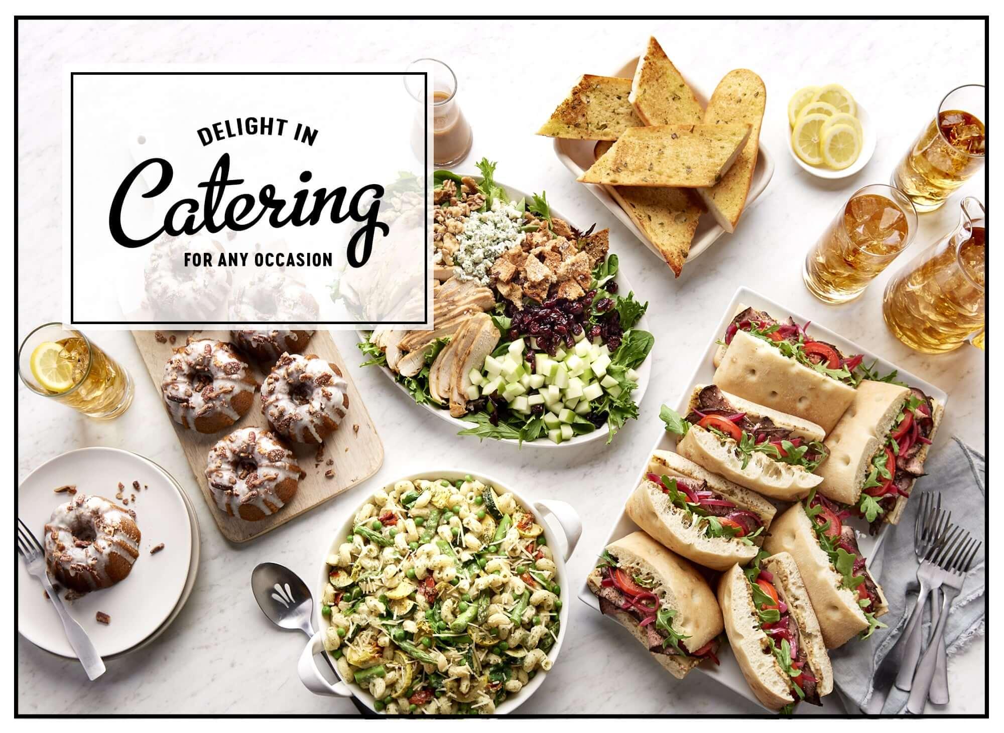 image regarding Panera Printable Catering Menu known as Corner Bakery Restaurant - Household - W319