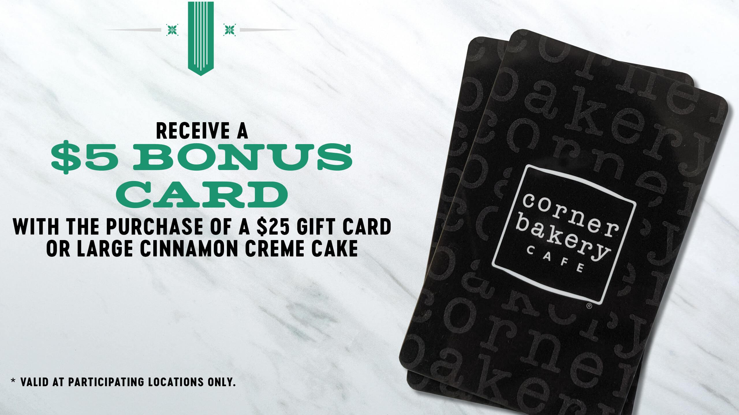$5 Bonus Card