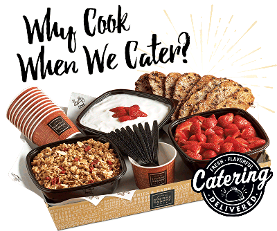 graphic about Panera Printable Catering Menu titled Corner Bakery Restaurant - Catering Menu